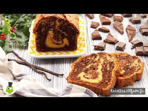 recette-|-marbré-(moelleux)-chocolat-noir-&-vanille