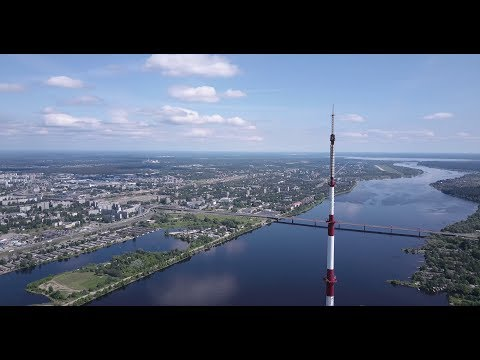 Riga (Latvia) (4K) (TV Tower, Z Towers, Martina church)