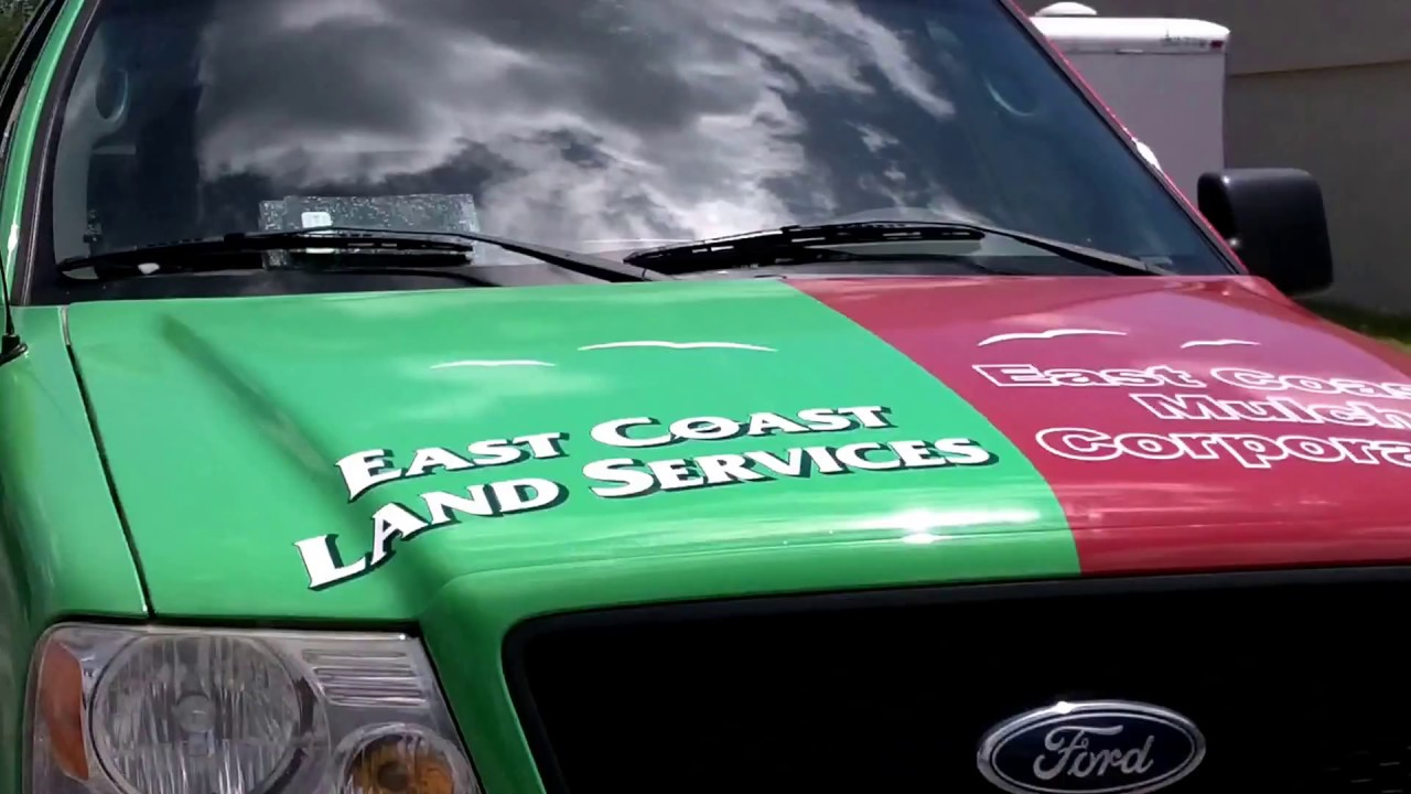 Palm Beach Gardens Ford Commercial Truck Wrap for East Coast Mulch ...