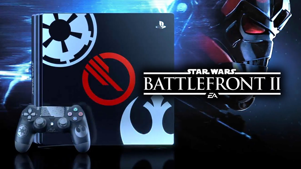 star wars battlefront 2 ps4 pro limited edition console revealed star wars hq youtube. Black Bedroom Furniture Sets. Home Design Ideas