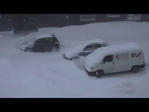 Stuck in a snowstorm in Nuuk