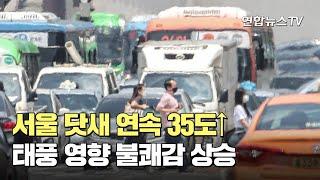 서울 닷새 연속 35도↑…태풍 영향 불쾌감 상승 / 연…