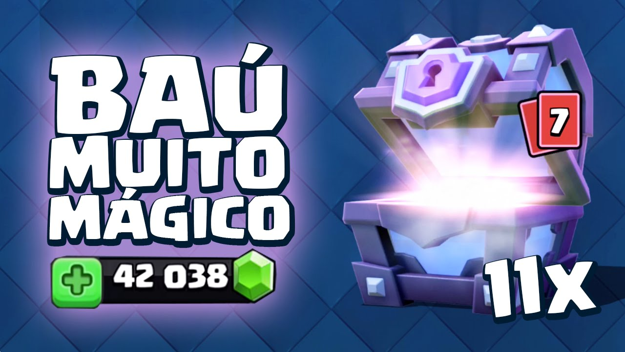 3bd1f77f6 ABRINDO 11 BAÚS SUPER MÁGICOS NO CLASH ROYALE! 42.000 GEMAS! - YouTube
