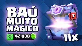ABRINDO 11 BAÚS SUPER MÁGICOS NO CLASH ROYALE! 42.000 GEMAS!