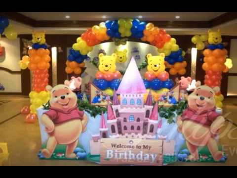 Balloon decoration ideas for birthdays youtube for Balloon decoration ideas youtube
