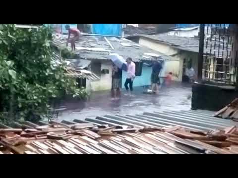 Flood in the area of mumbai at marol pipeline andheri east on29th augast 2017