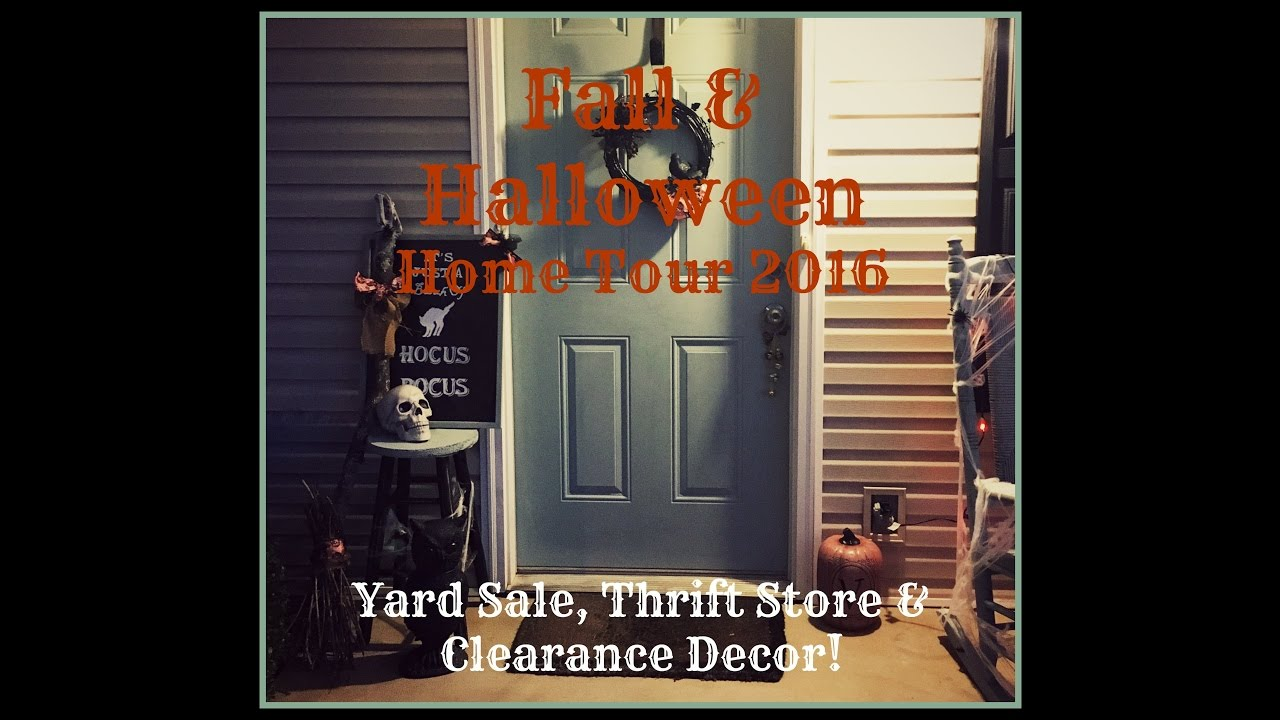 fall halloween home tour 2016 yard sale thrift store dollar store diys clearance decor