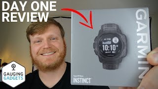 Garmin Instinct Day One Review and Unboxing First Impression