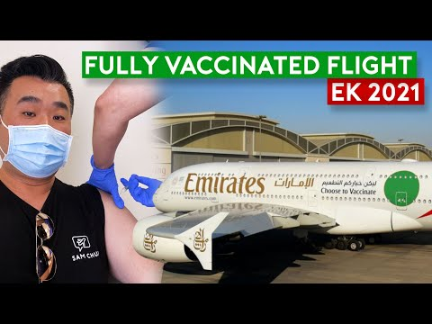 The Future Way to Fly? Emirates Special Fully Vaccinated Flight
