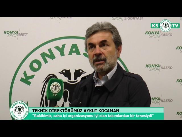 K. Karabükspor maçı sonrası Teknik Direktörümüz Aykut Kocaman'ın açıklamaları