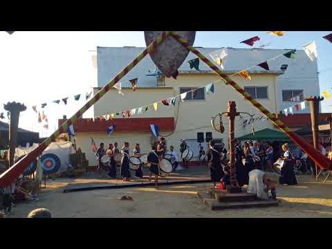 """Grupo de Bombos """"Bate Forte"""" na Feira Histórica e Tradicional de Vilarinho do Bairro 2018 - Parte 2"""