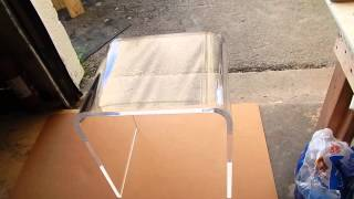 3/4 thick acrylic end table can be used as a bench