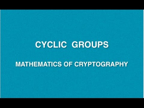 Mathematics Of Cryptography | Lecture 3 - Cyclic Group | CRNS ...