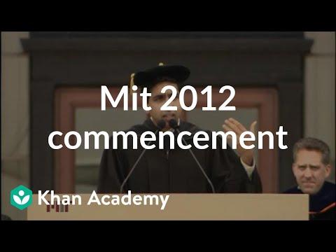 MIT 2012 Commencement Address
