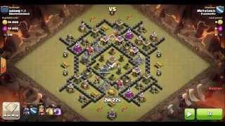 Clash of Clans TH8 vs TH8 (Maxed, Anti-Hog): Dragon 3-Star Clan Wars Attack (MetxChris)