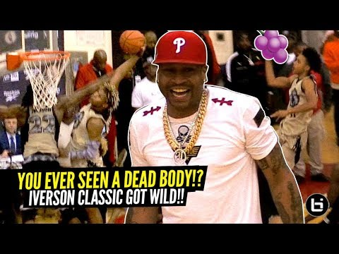 Allen Iverson Witnesses MURDER!!! Tre Mann Hits A MEAN JELLY! Iverson Classic Got WILD!!