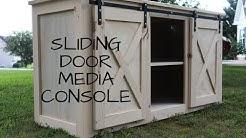 Sliding Door Media Console