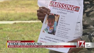 Amber Alert still active for Greensboro toddler
