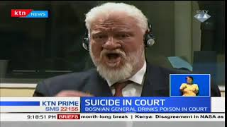 Bosnia general Slobodan Praljak commits suicide in court
