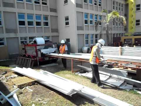 ROSS SKN - Roof Alum Metal panels- on-site fabrication