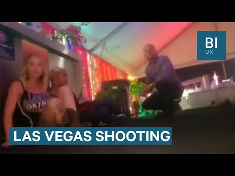 Footage shows people running as shots ring out at Las Vegas festival