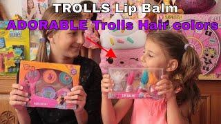 TROLLS Lip Balm + ADORABLE Trolls Hair colors