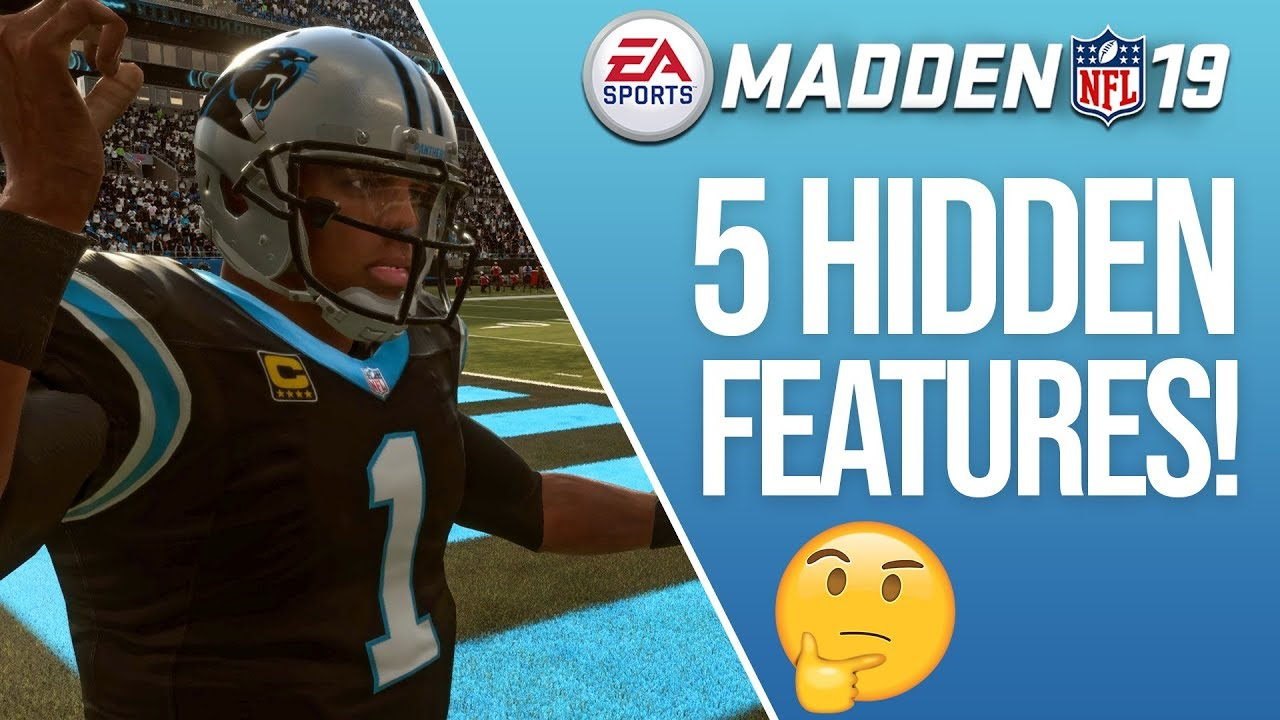 3affed18109 5 HIDDEN Features In Madden 19 - You Have To Try These! - YouTube