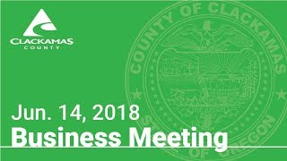 Board of County Commissioners' Meeting Jun. 14, 2018