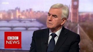 John McDonnell on Brexit and Trident   BBC News