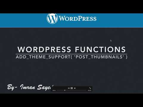 WordPress Functions add theme support post thumbnails