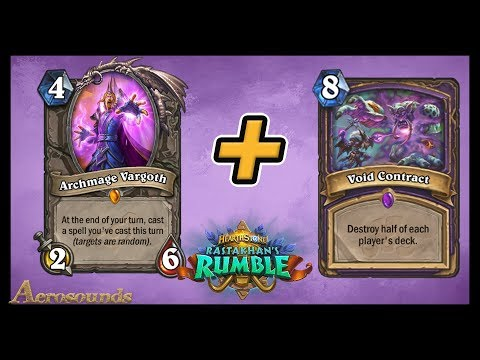 Archmage Vargoth Control Warlock With Void Contract! Rastakhan's Rumble Hearthstone