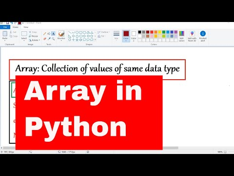 PYTHON TUTORIAL: PYTHON ARRAY WITH EXAMPLES|ARRAY METHODS|LIST VS ARRAY IN PYTHON