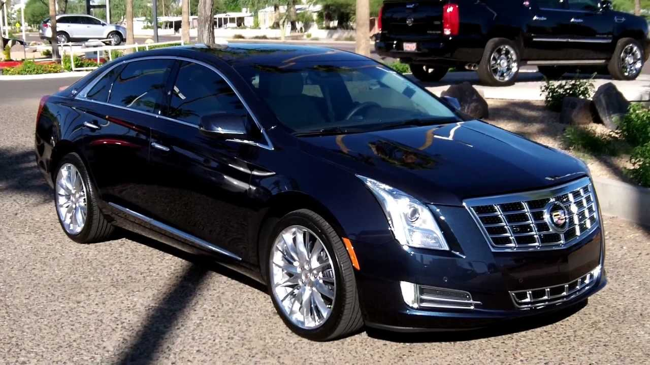 2013 Cadillac XTS, Premium Pkg, First Look, Sapphire Blue Met, Lund ...
