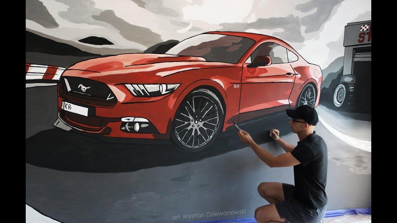 Maluję Ford Mustang 5.0 V8 2016