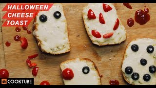Halloween Cheese Toast Recipe | Easy Recipes For Halloween Party