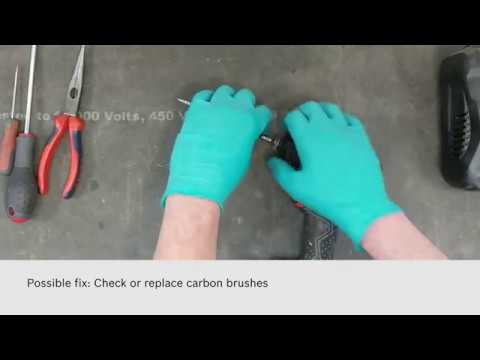 Bosch Professional Self-Service - How to Change Carbon Brushes