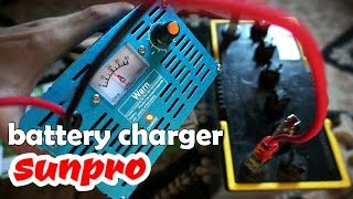 battery charger 30A SUNPRO dan cara pakainya