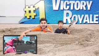 Fortnite Beach Fort Challenge With My 6 Year Old Little Brother! (BEACH FORT CHALLENGE!)