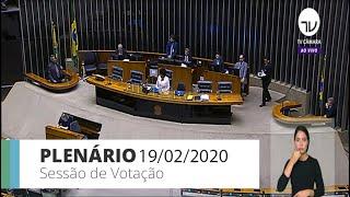 Plenário - Votação de propostas legislativas - 19/02/2020 - 09:00
