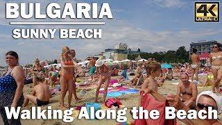 Walking Along the Beach in Sunny Beach Bulgaria [4K]