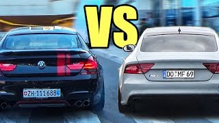 BMW M6 vs Audi RS7 vs Mercedes CLS63 AMG - Accelerations & Exhaust Sounds!🔥