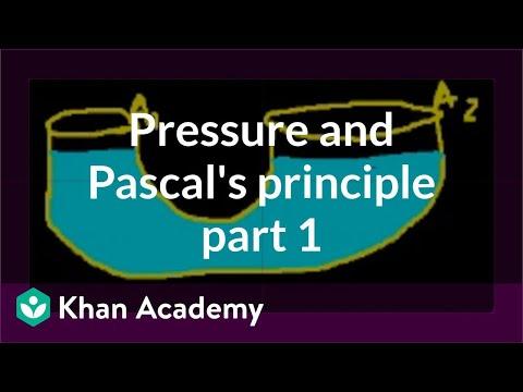 Pressure and Pascal's principle (part 1) | Fluids | Physics | Khan Academy