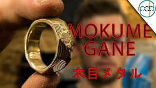Making an Obsidian Mokume Gane Ring - Japanese Metal Composite Ring