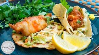Baja Fish Tacos Recipe  Mexican Street Cart Taco Recipe