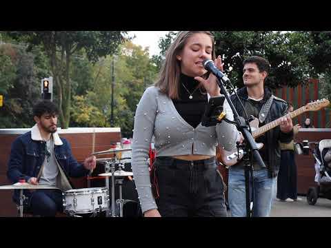 INCREDIBLE STREET PERFORMERS | Isn't She Lovely-Stevie Wonder| Allie Sherlock & The3Busketeers cover