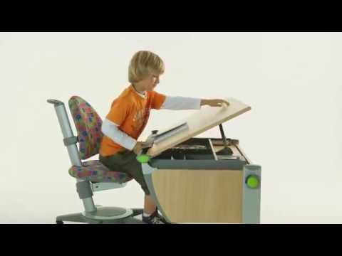 Наклонная столешница детского письменного стола - парты Moll