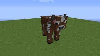 как построить корову в minecraft