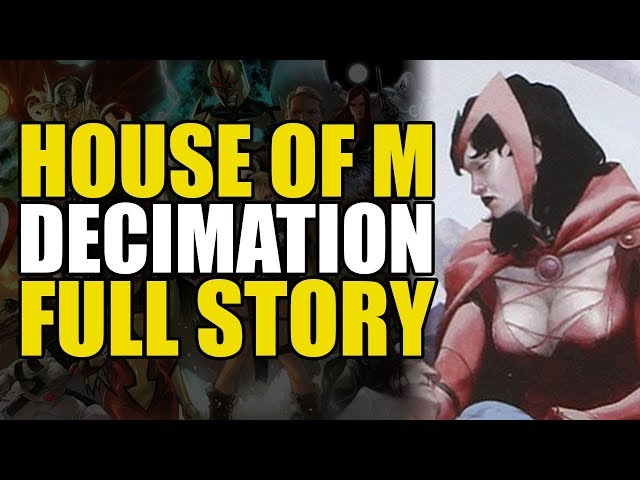 Scarlet Witch Eliminates All Mutants (X-Men: Decimation Full Story)