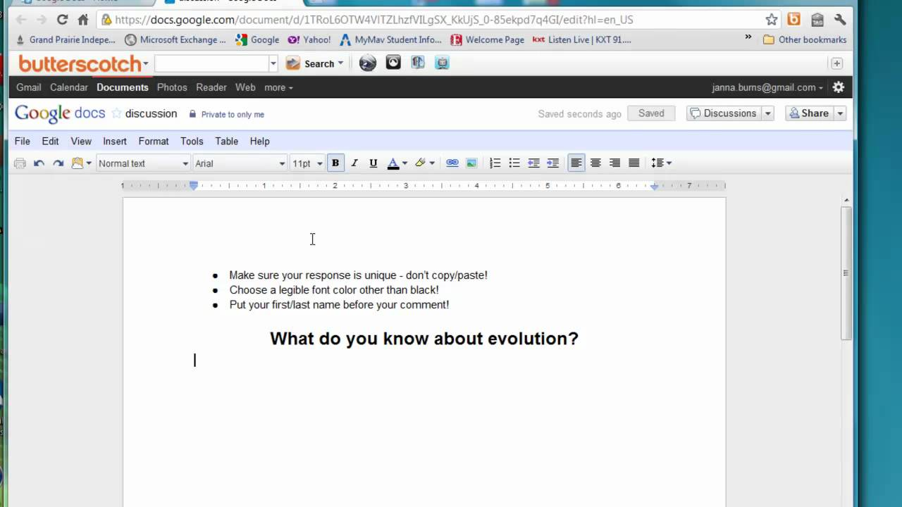 How to color in google docs - Using Google Docs To Create An Online Discussion