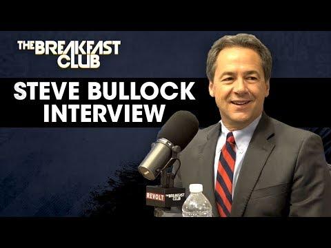 Governor Steve Bullock Explains His Campaign To Change Washington, Core Values + More